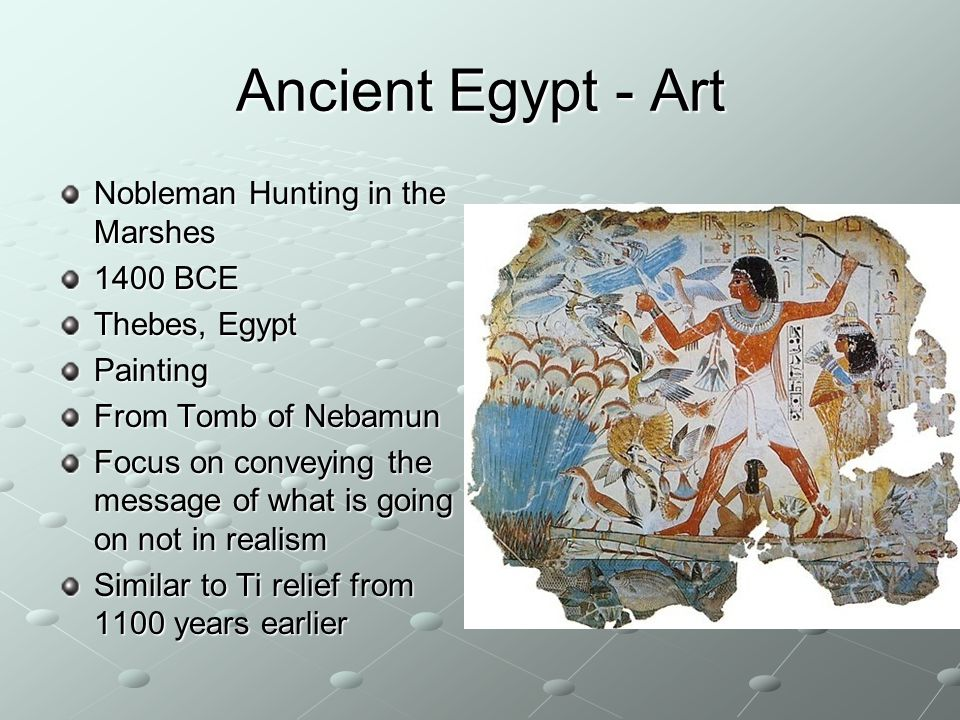 Ancient Egypt - Art Nobleman Hunting in the Marshes 1400 BCE