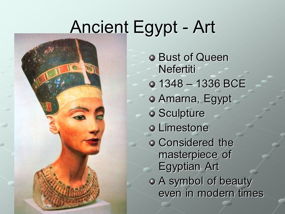 Ancient Egypt - Art Bust of Queen Nefertiti 1348 – 1336 BCE