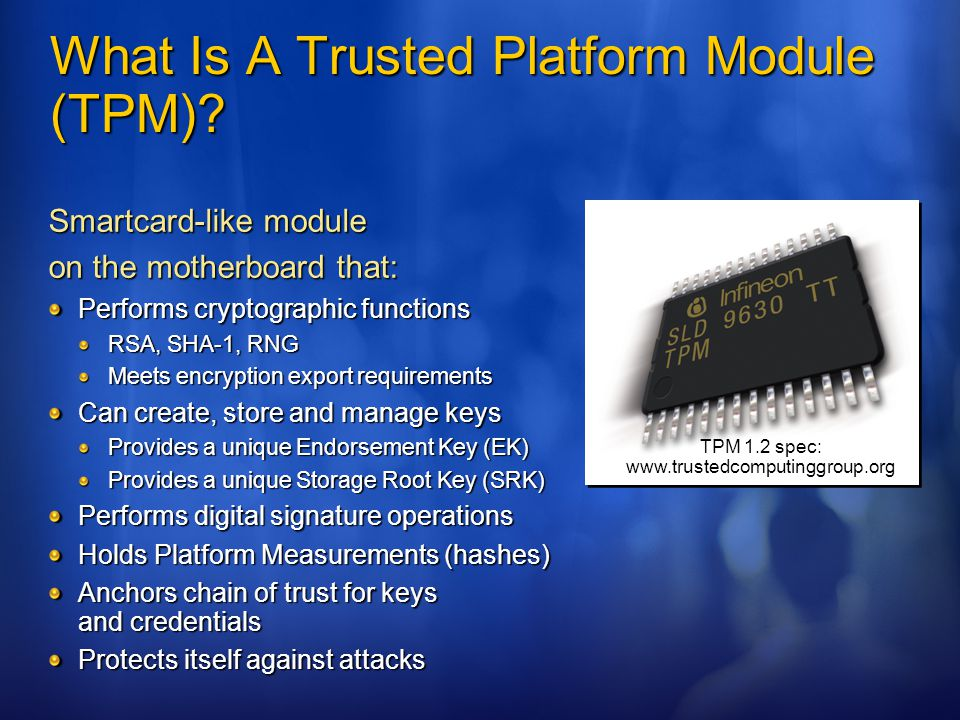 What Is A Trusted Platform Module (TPM)