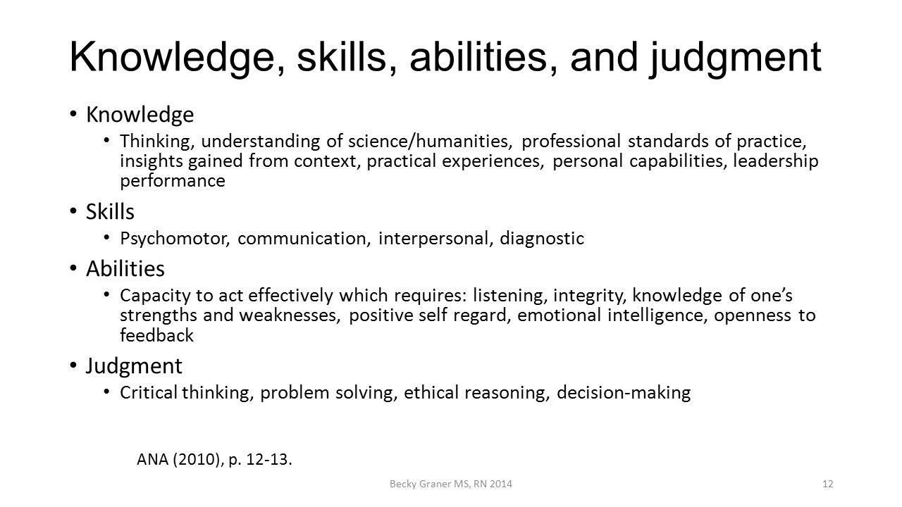 knowledge skills abilities