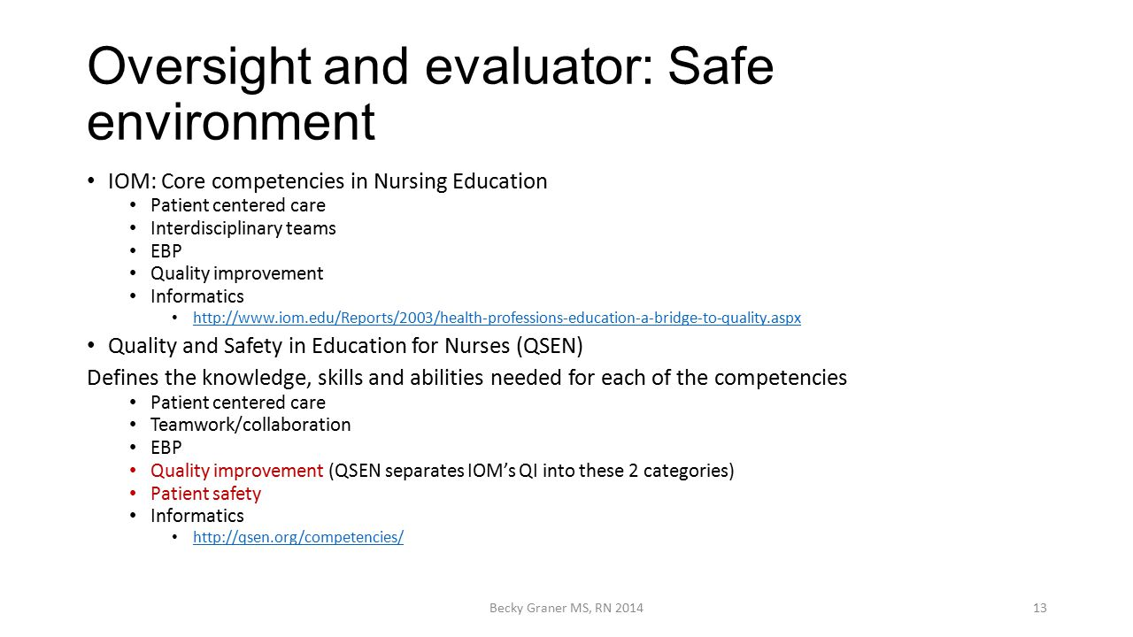 oversight and evaluator safe environment education evaluator - Education Evaluator
