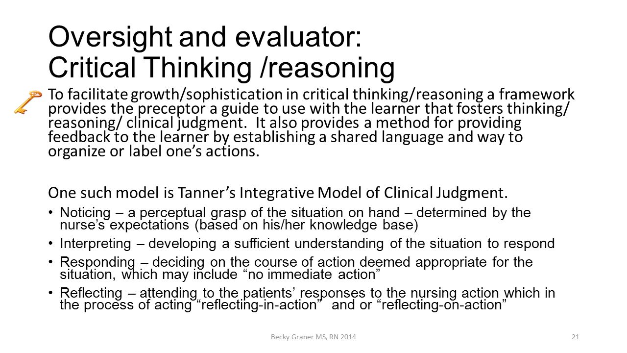 critical thinking clinical reasoning and clinical judgment a practical approach Alfaro's critical thinking, clinical reasoning, and  clinical reasoning, and clinical judgment are incorporated  a broad approach to critical thinking.