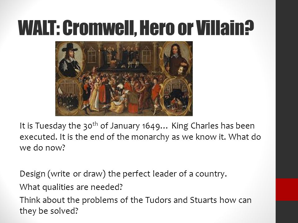 walt cromwell hero or villain ppt  walt cromwell hero or villain