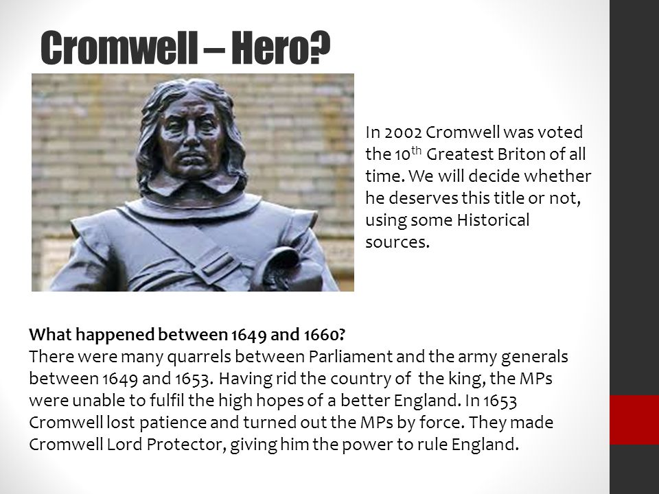 walt cromwell hero or villain ppt  3 cromwell hero