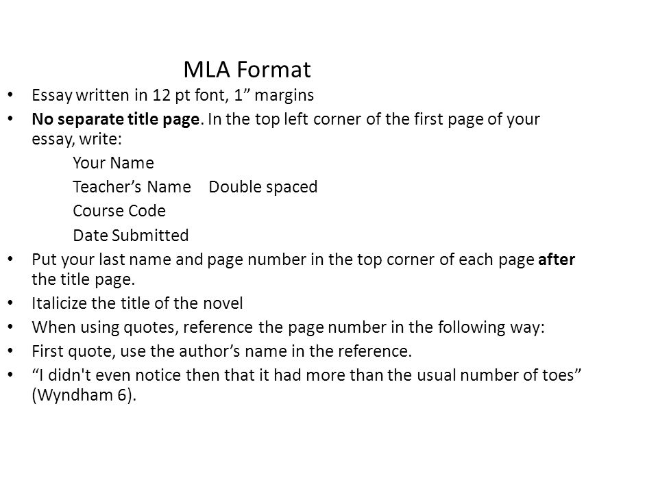 mla format essay spacing