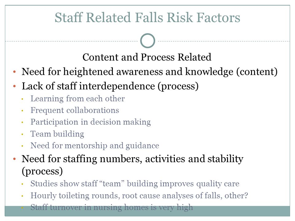 causative factors relating to falls within It looks at how it is diagnosed and the factors that can put someone at risk of developing it  if the vascular system within the brain becomes damaged.