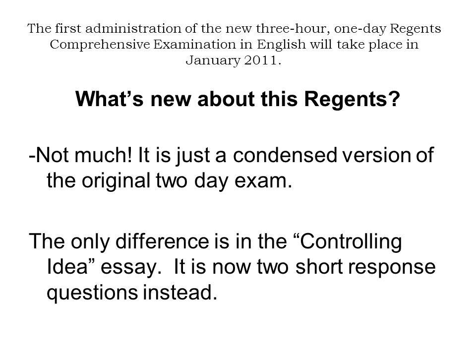 english regents essay prompts How can students use thematic essay prompts to review for the regents regents content: thematic essay topics review sheet global history i unit 93 this review sheet lists the seven themes that have been repeated on the regents exam starting with the those most.
