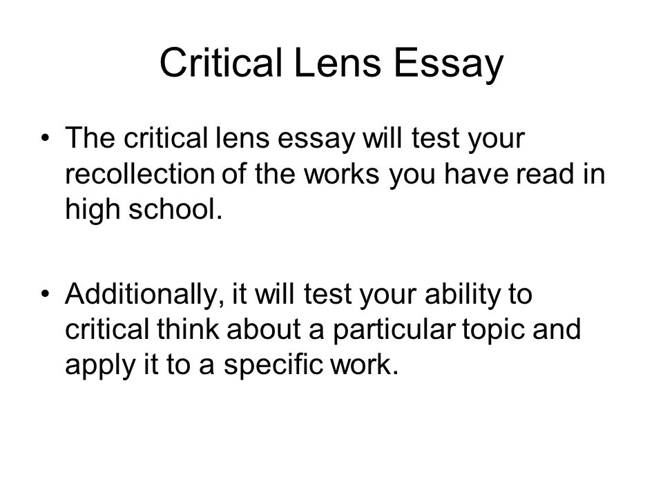 new york state critical lens essay Unfamiliar with the specifics of writing a critical lens paper critical lens essay  examinations in new york,  the lens new york state english.
