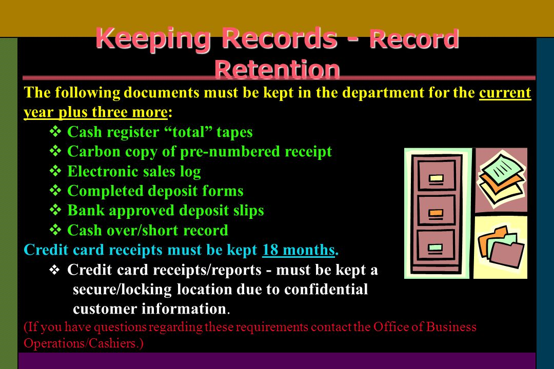University of northern iowa training presentation ppt download keeping records record retention reheart Images