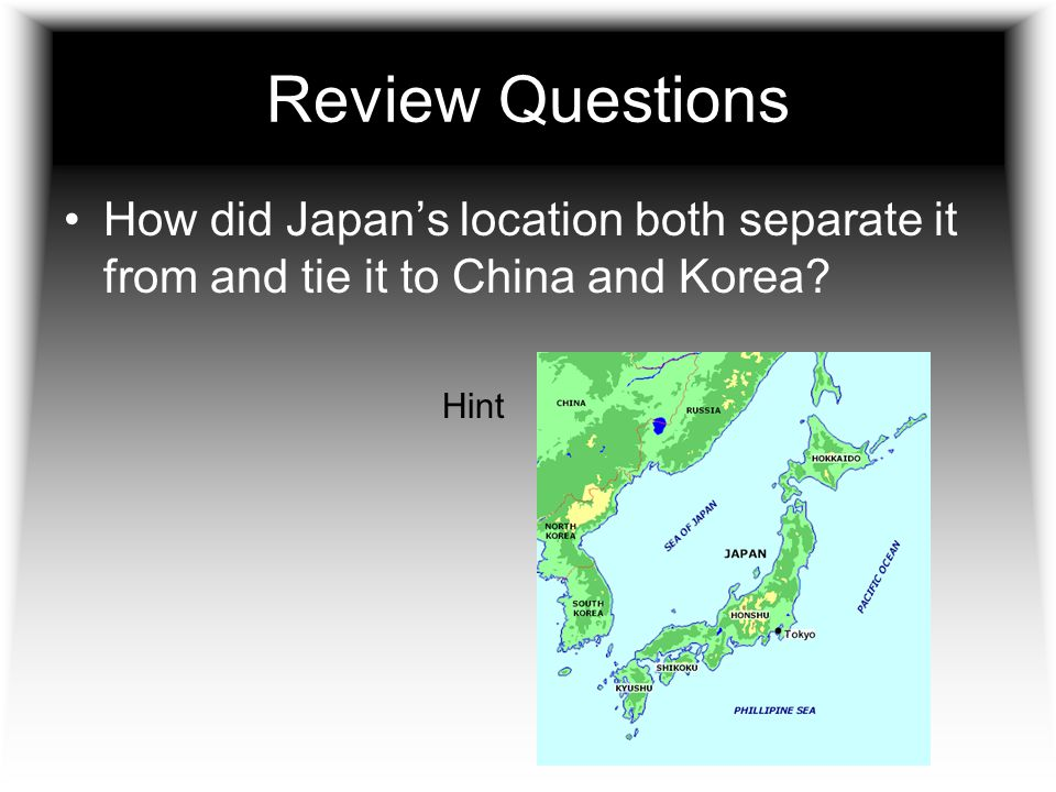 Japan Learns From China And Korea Ppt Video Online Download - Japan map questions