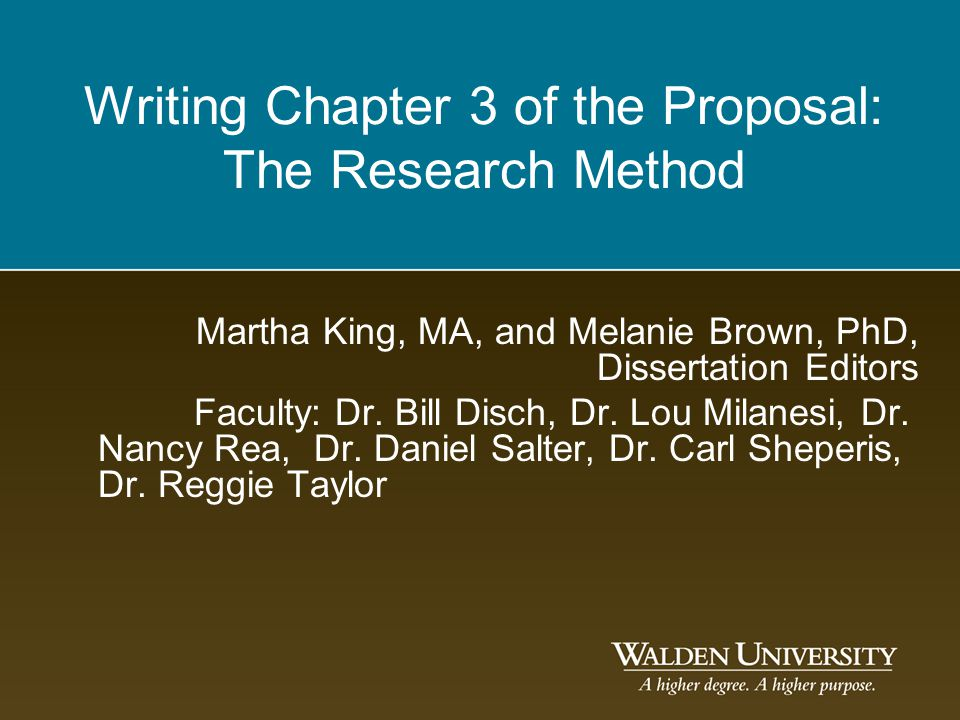 Writing a doctoral dissertation methodology chapter 3