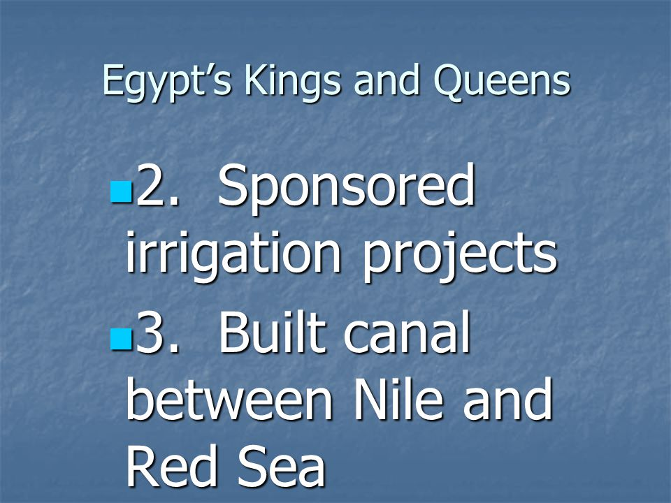 Egypt's Kings and Queens