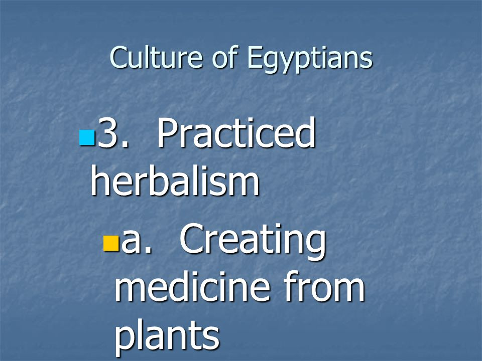 a. Creating medicine from plants