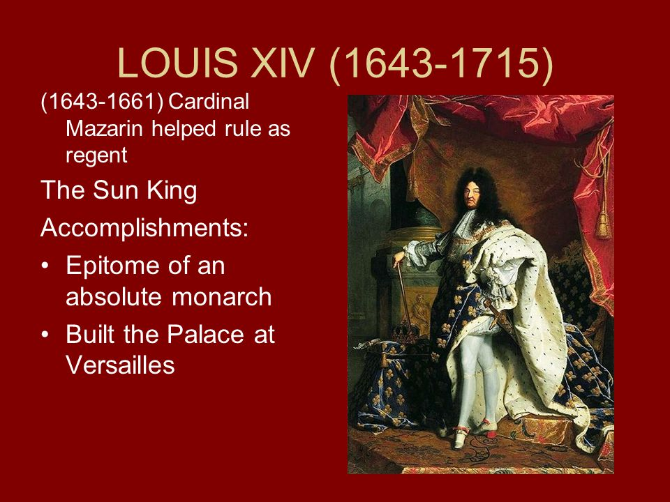 "louis xiv the sun king absolute A man of singular ambition and presence, the ""sun king"" had a profound  his new book absolute monarchy on the frontiers: louis xiv's."