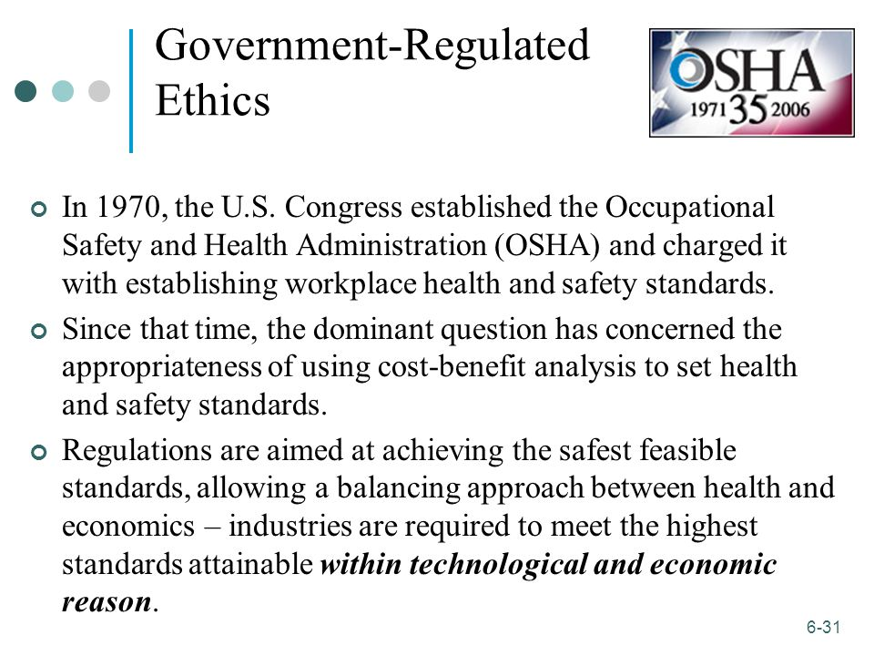 government regulations and business ethics Companies are spending a great deal of time and money to install codes of ethics  it is clear that laws often punish  of business ethics and the research .