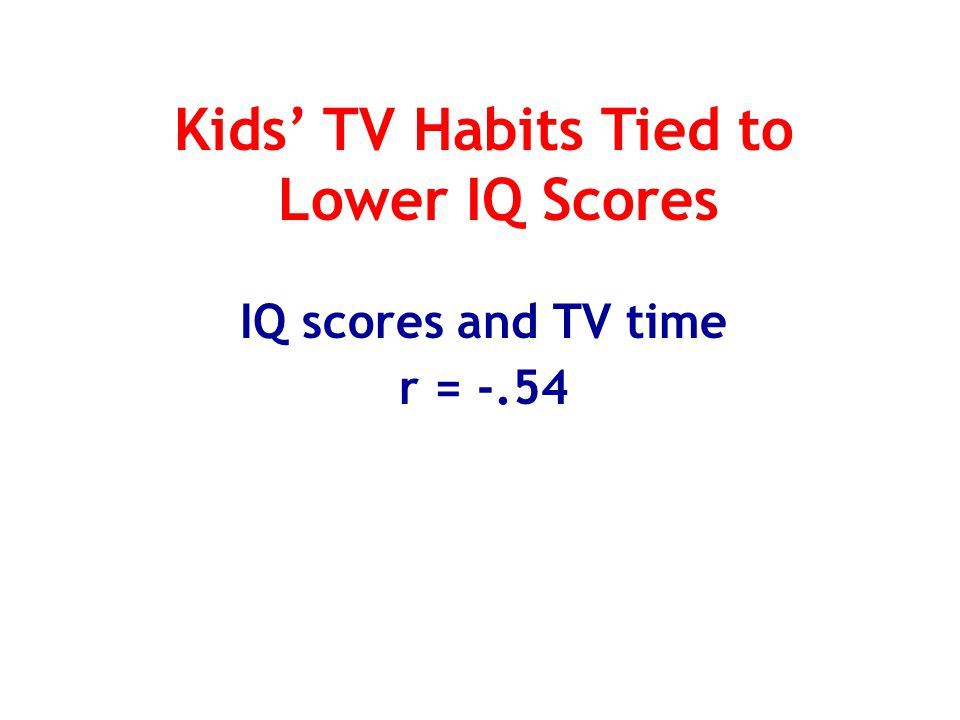 Kids' TV Habits Tied to Lower IQ Scores