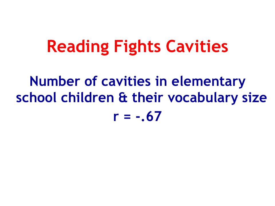 Reading Fights Cavities