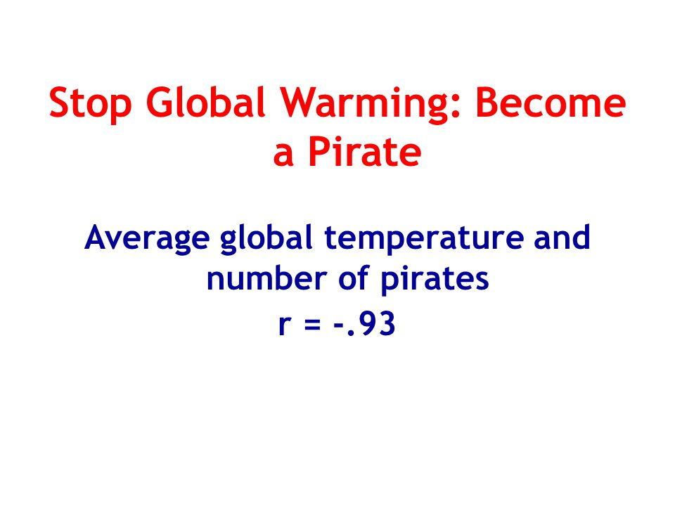 Stop Global Warming: Become a Pirate