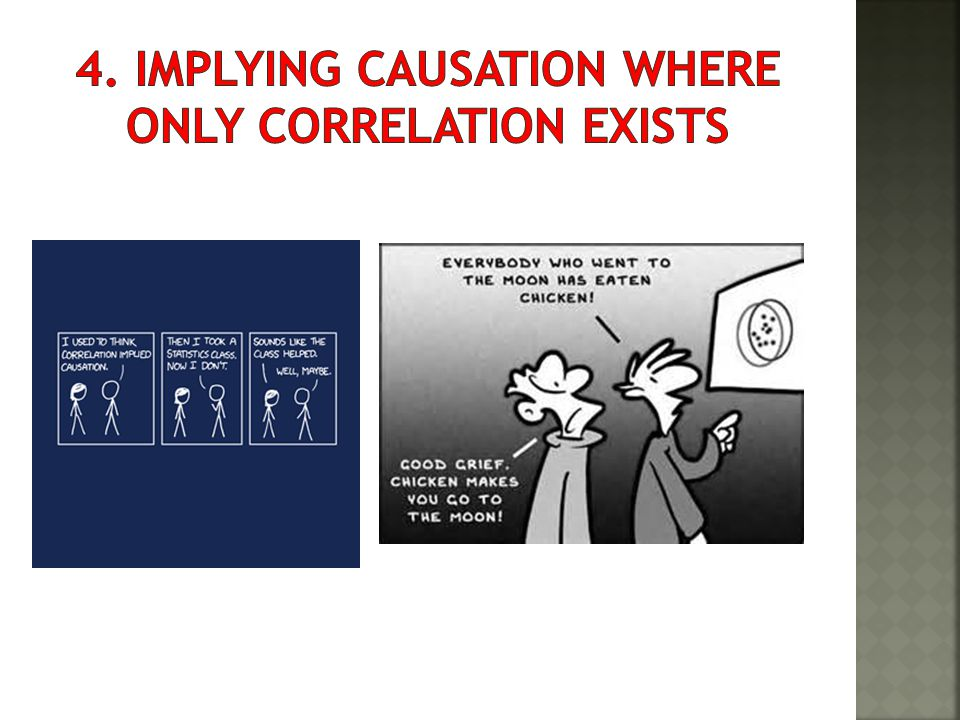 4. Implying causation where only correlation exists