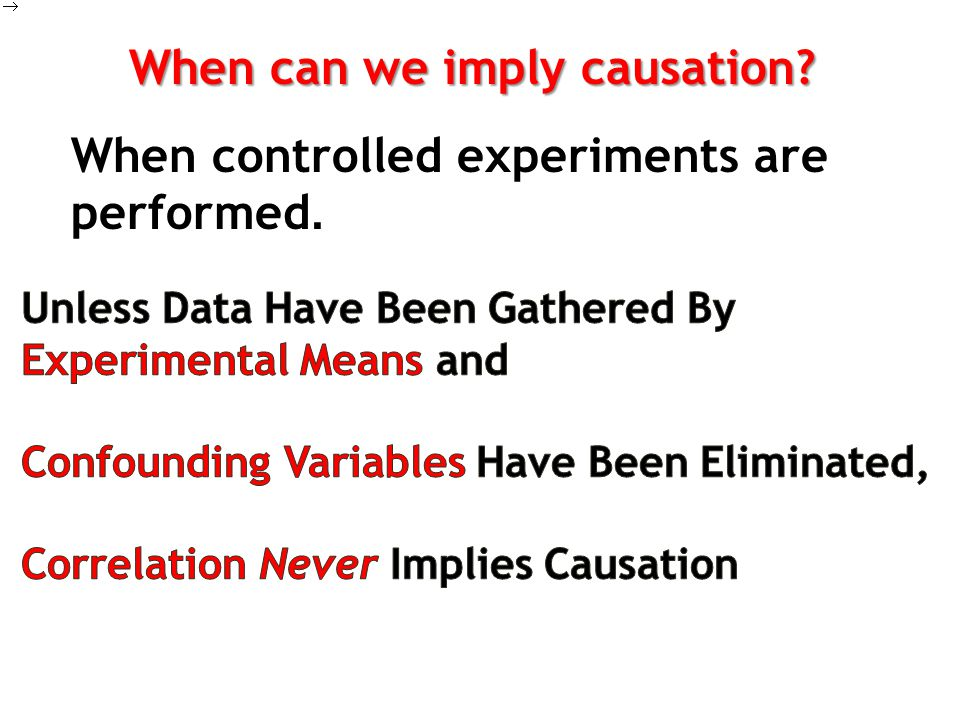 When can we imply causation
