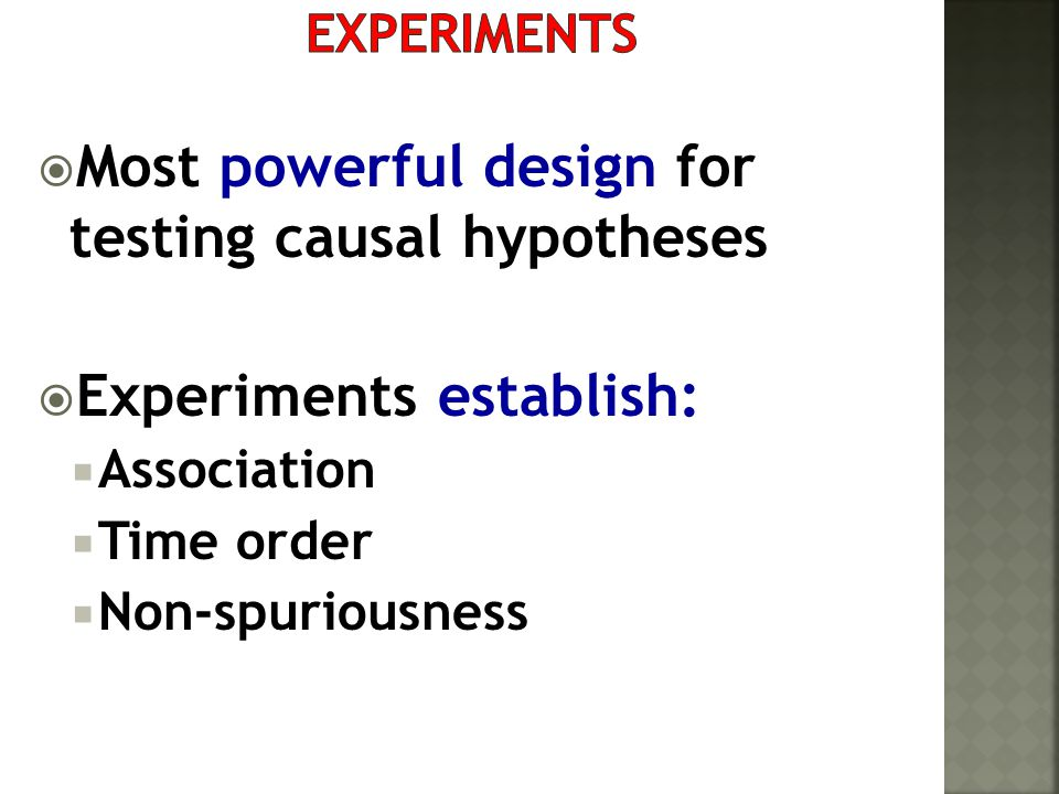 Most powerful design for testing causal hypotheses
