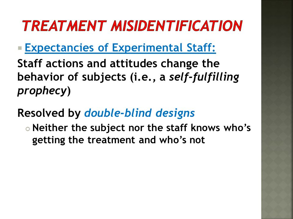 Treatment Misidentification