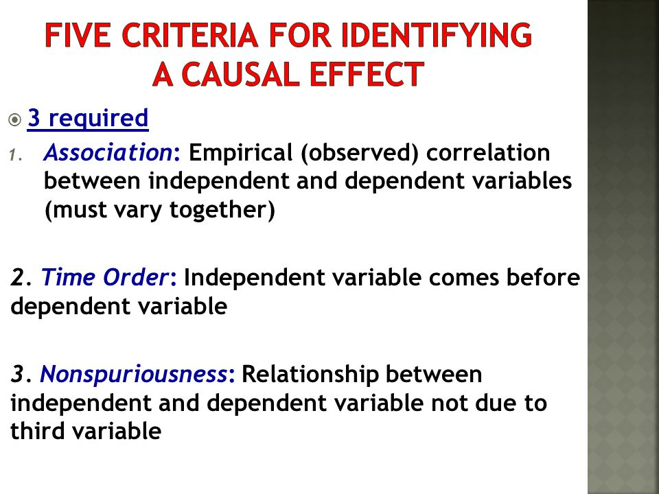Five Criteria for Identifying a Causal Effect