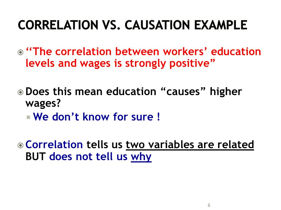 Correlation vs. Causation Example