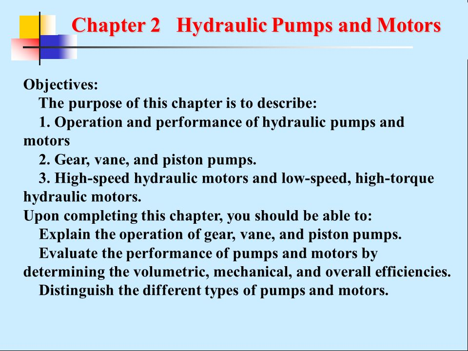 Chapter 2 Hydraulic Pumps and Motors