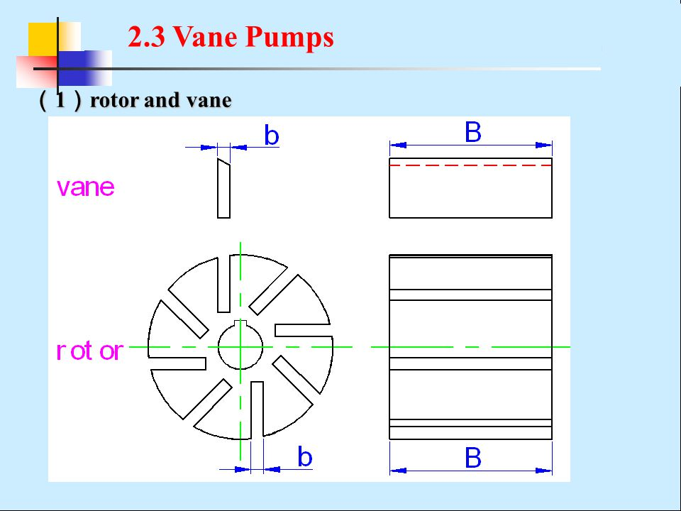 2.3 Vane Pumps (1)rotor and vane