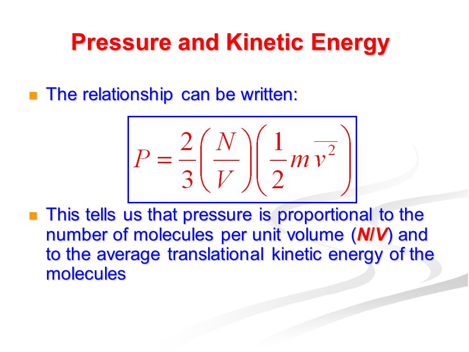 pressure and molecules relationship