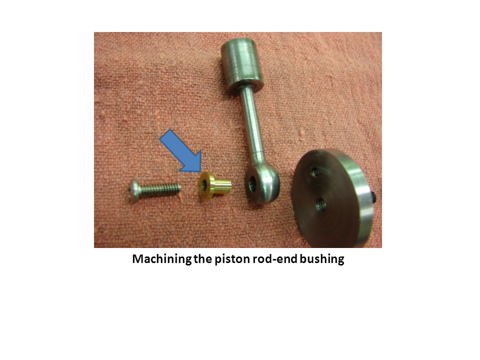 Machining the piston rod-end bushing
