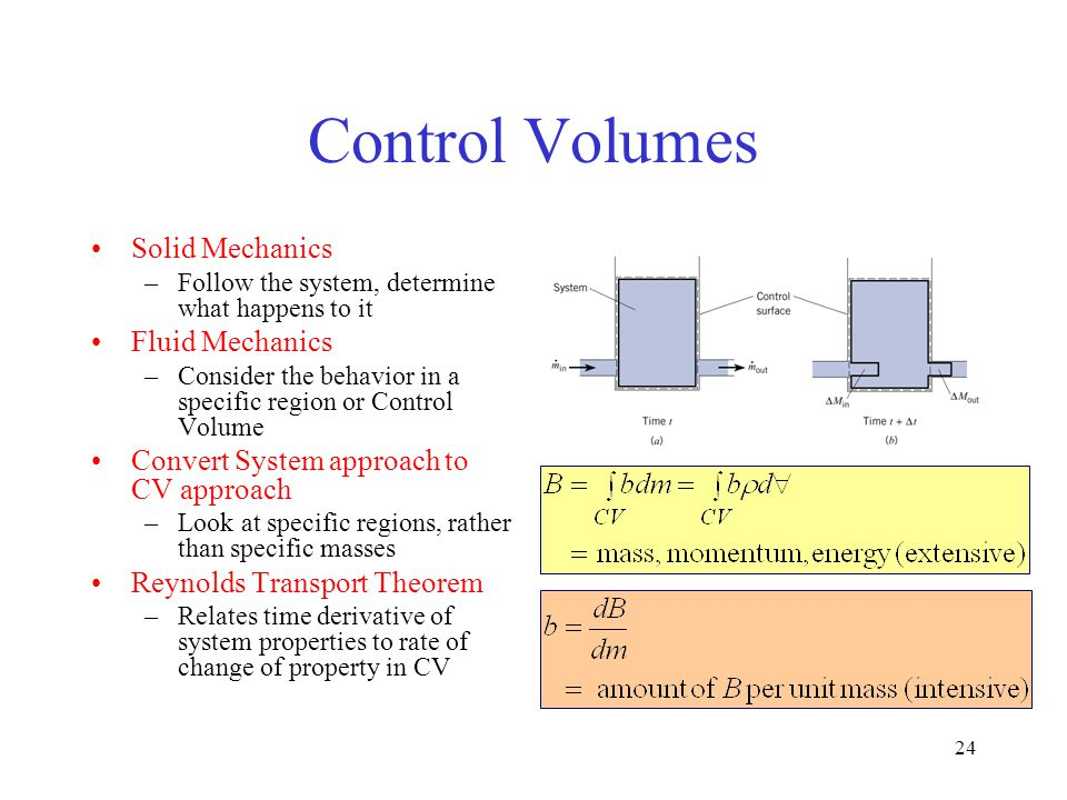 Control Volumes Solid Mechanics Fluid Mechanics