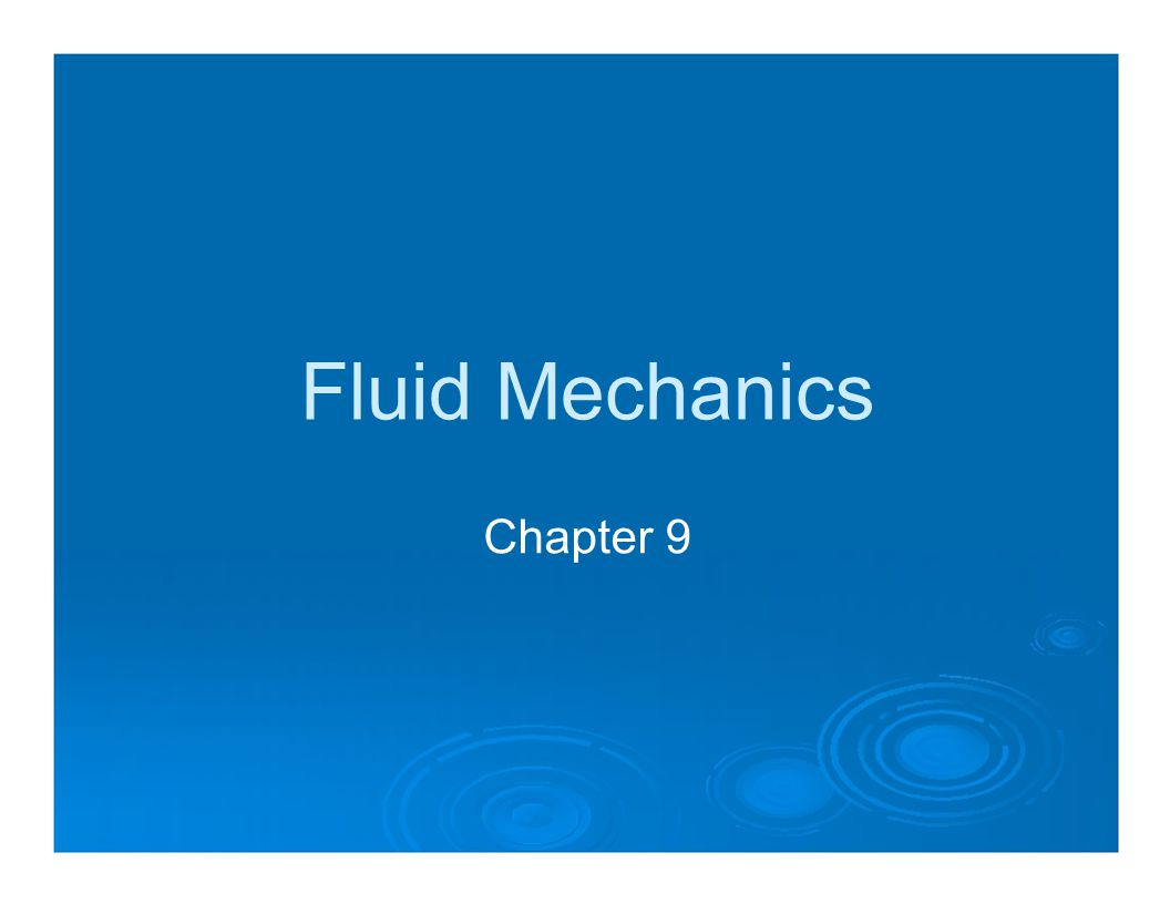 fluid mechanics essay