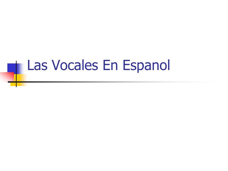 Las Vocales En Espanol