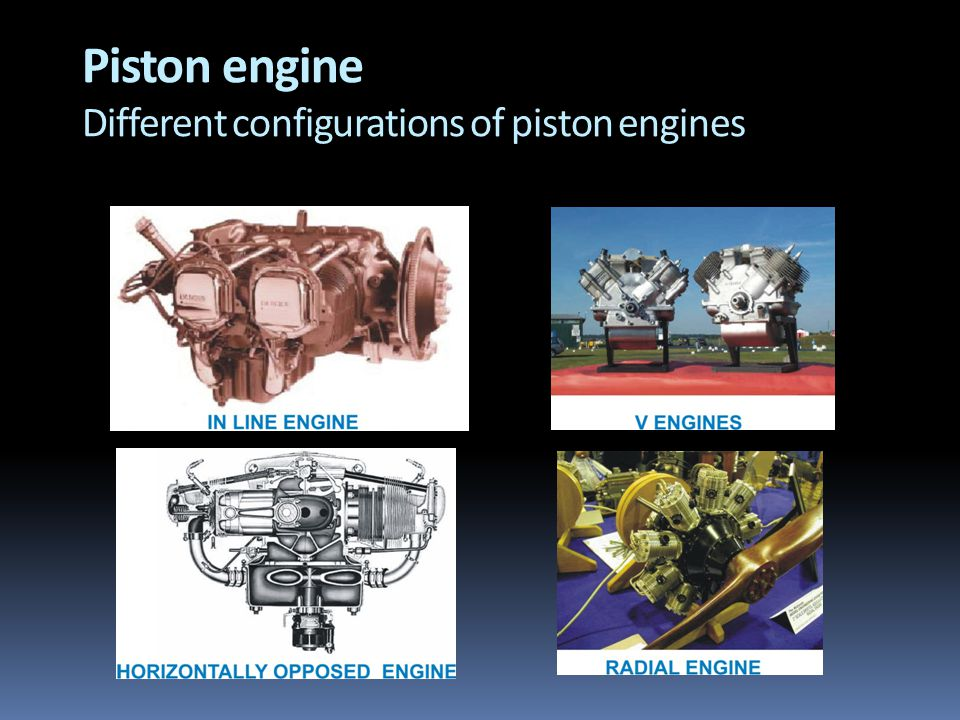 Piston engine Different configurations of piston engines