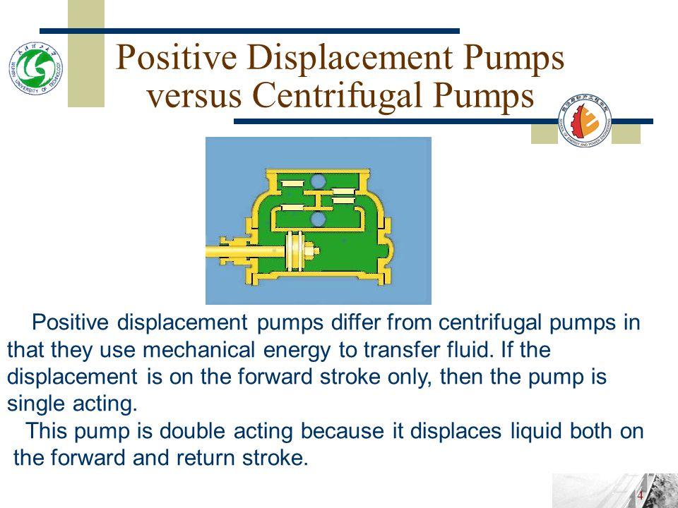 Positive Displacement Pumps versus Centrifugal Pumps