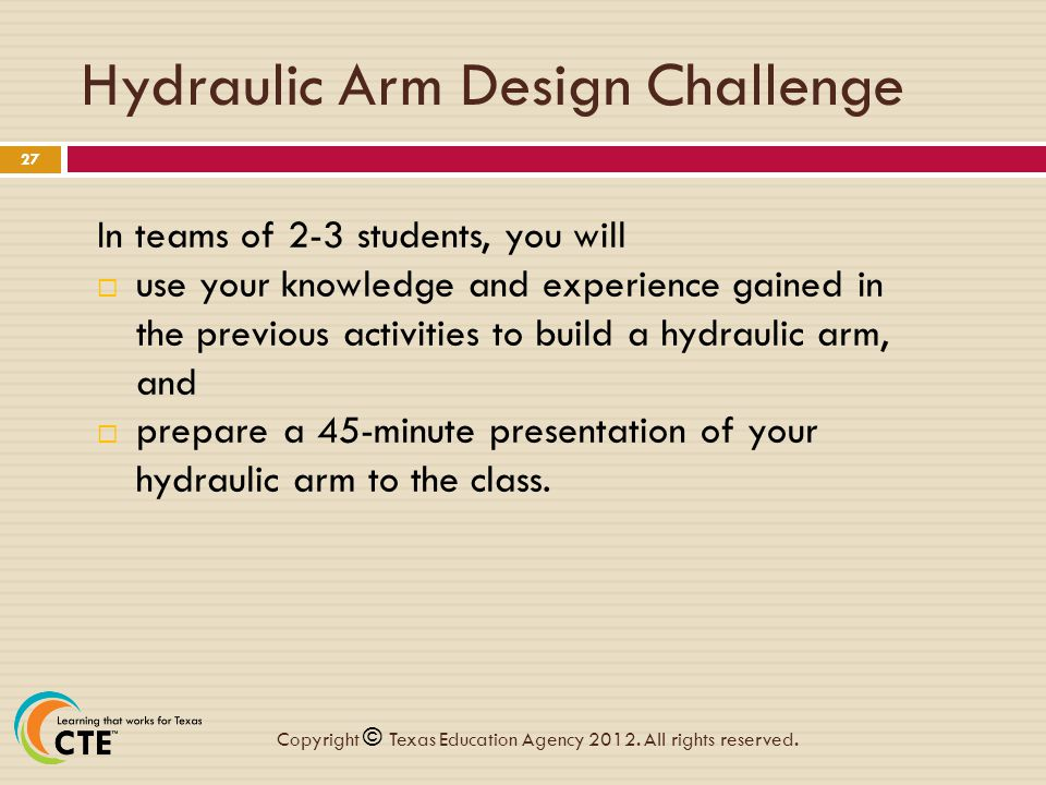 Hydraulic Arm Design : Chapter hydraulics and pneumatics ppt video online