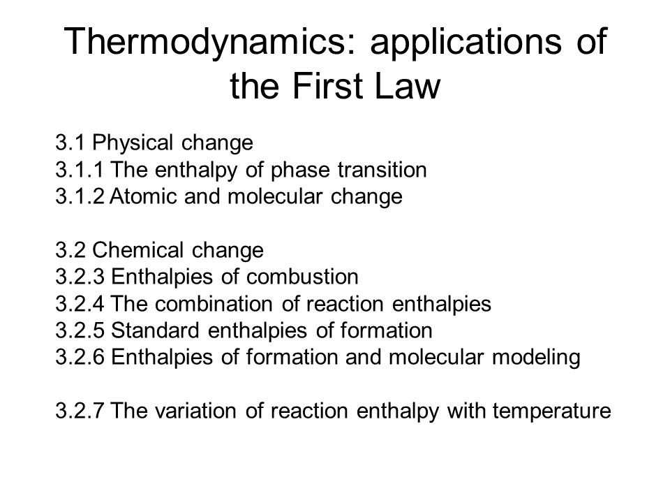 application of thermodynamics The principles of thermodynamics are so general that the application is widespread to such fields as solid state physics, chemistry, biology, astronomical science, materials science, and chemical engineering.