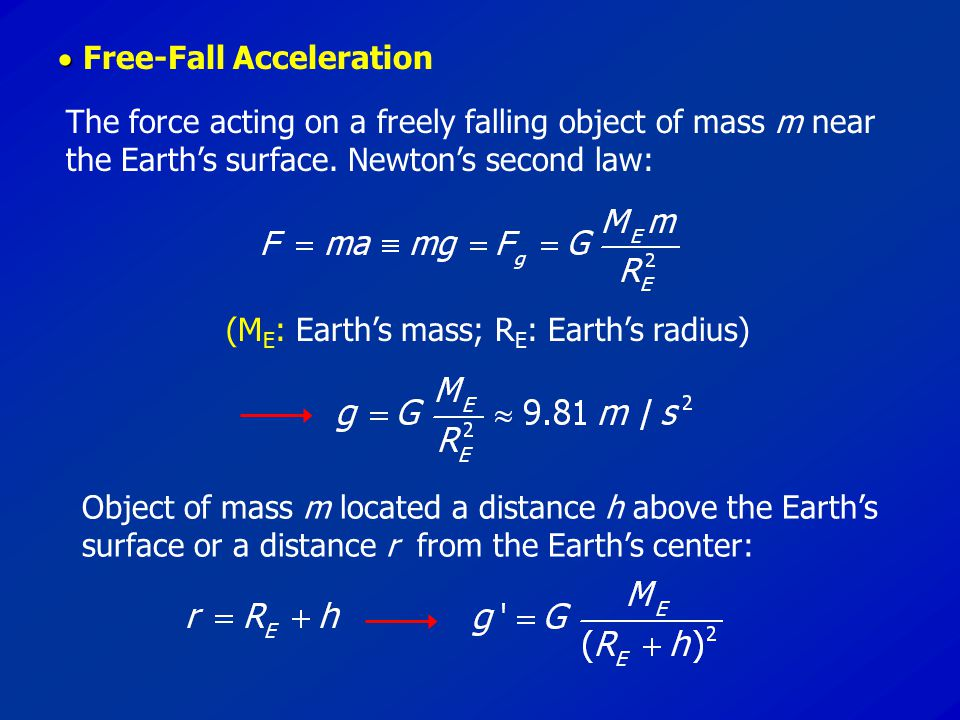  Free-Fall Acceleration
