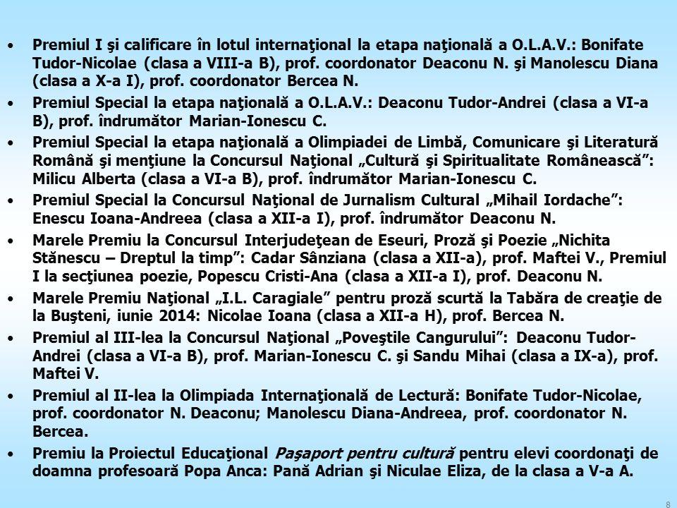 Premiul I şi calificare în lotul internaţional la etapa naţională a O