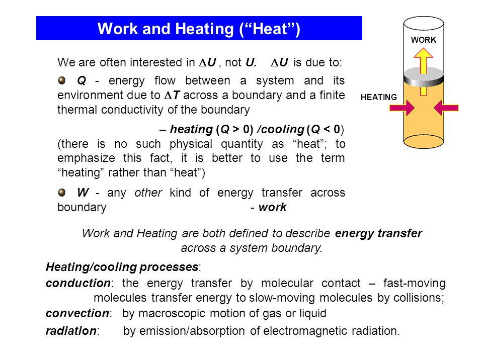 Work and Heating ( Heat )