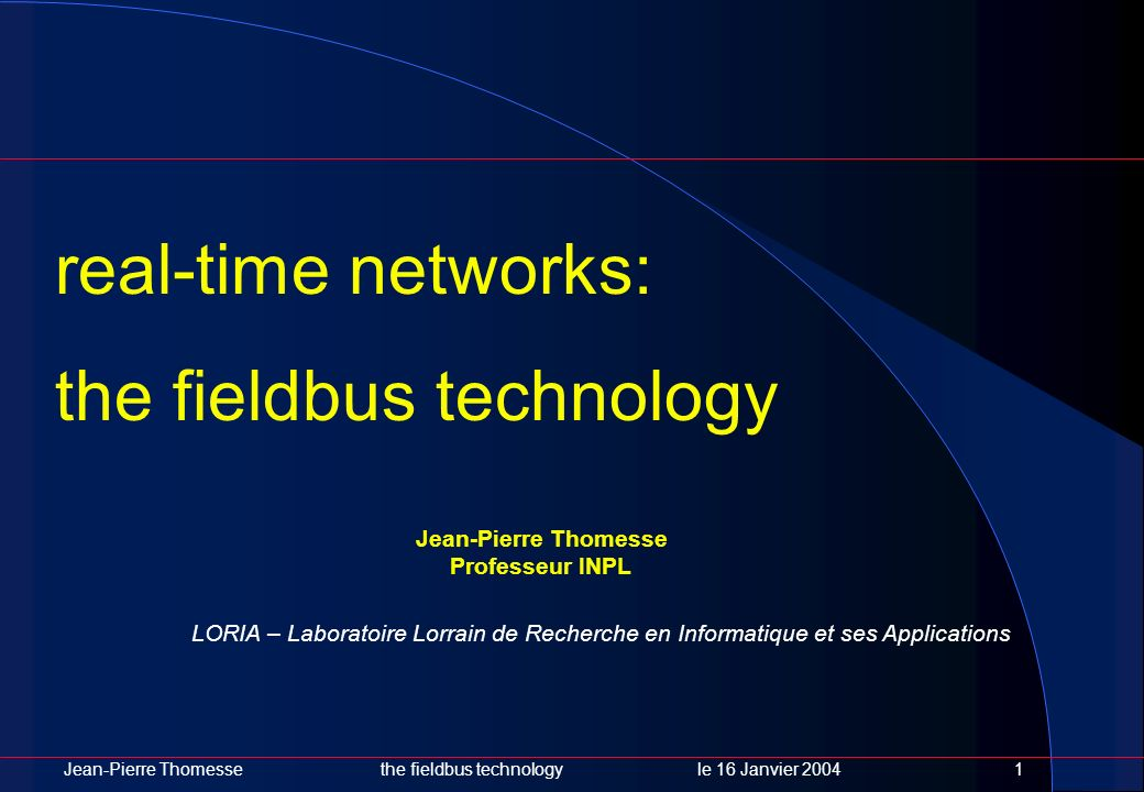 the fieldbus technology
