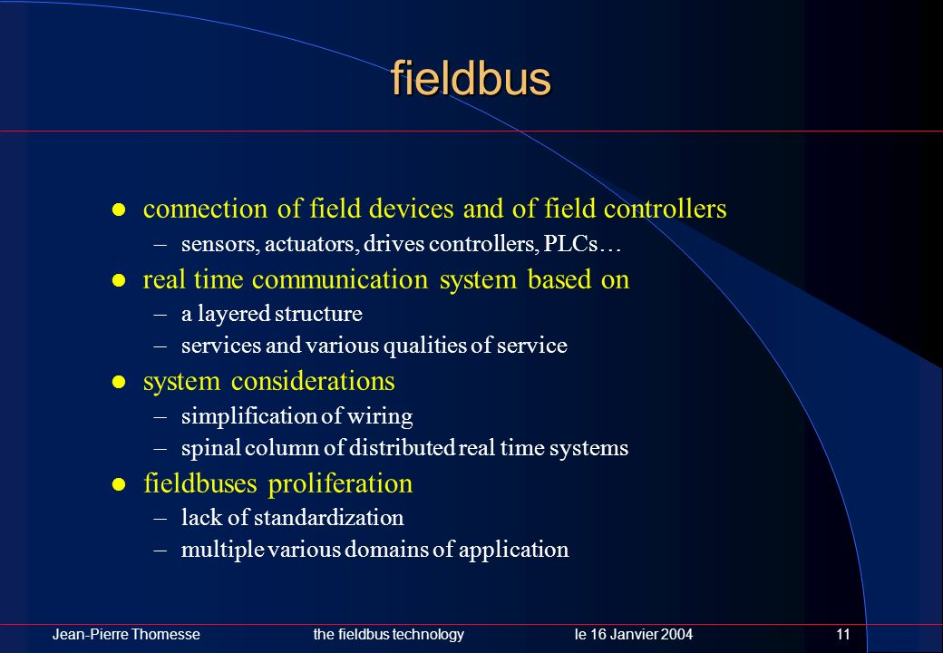 fieldbus connection of field devices and of field controllers