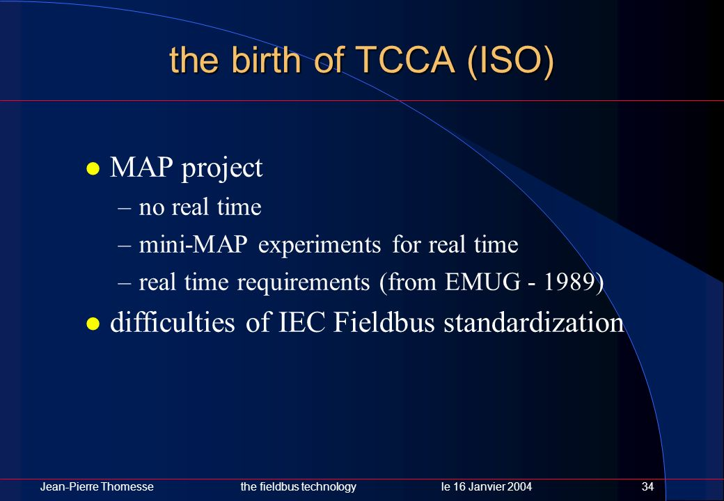 the birth of TCCA (ISO) MAP project