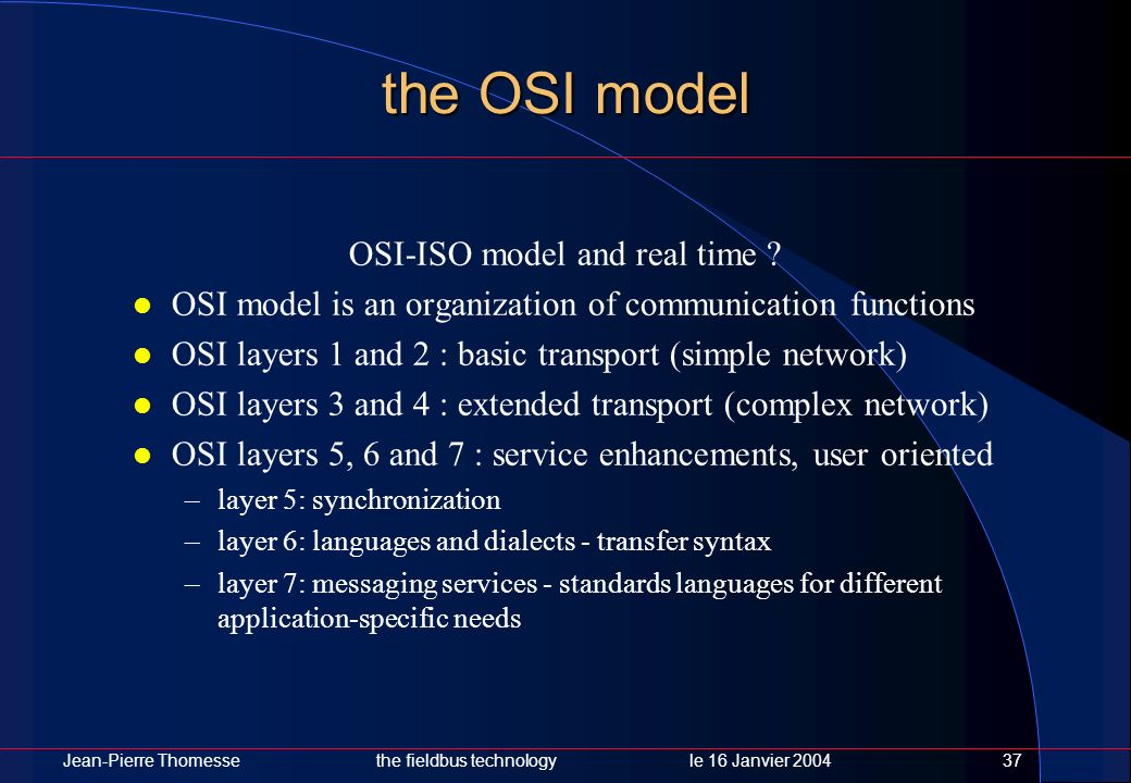OSI-ISO model and real time
