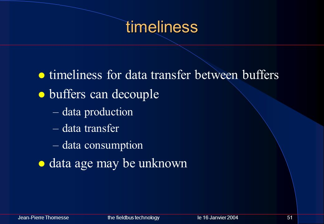 timeliness timeliness for data transfer between buffers