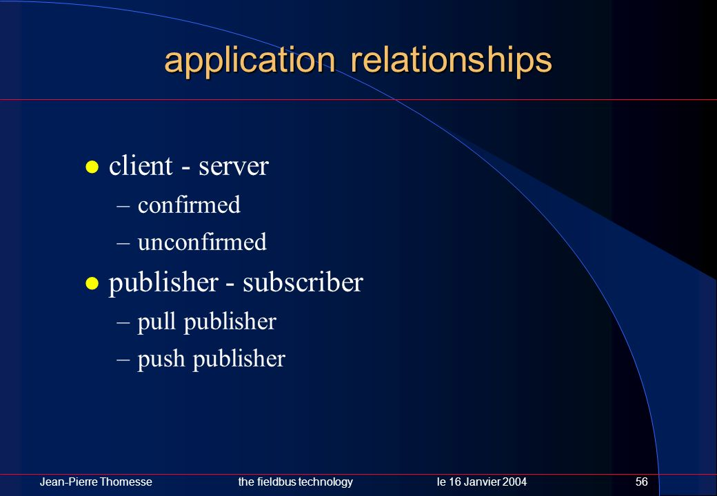 application relationships