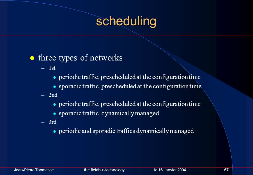 scheduling three types of networks