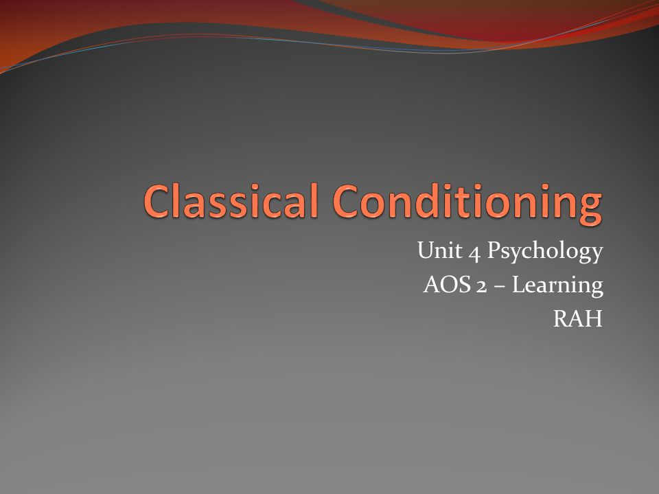 psychology intelligence and classical conditioning Higher order conditioning (also known as second order conditioning) is a classical conditioning term that refers to a situation in which a stimulus that was previously neutral (eg, a light) is paired with a conditioned stimulus (eg, a tone that has been conditioning with food to produce.